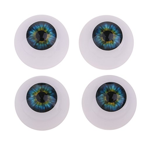 D DOLITY 20mm Doll Repair And Making Replace Eyes Half Round Acrylic Eyeballs For Baby Dolls Supplies(Green And Blue) from D DOLITY