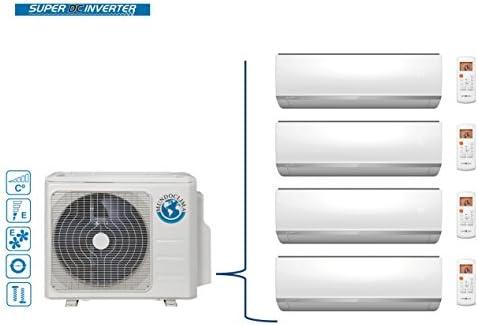 Climatización mundo clima Tri Split 4 X 1 Inventer 2500 kW: Amazon ...