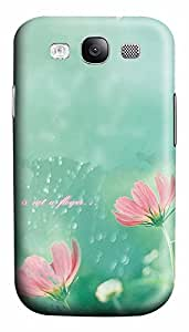 Samsung S3 Case Simple Mist Flower 3D Custom Samsung S3 Case Cover