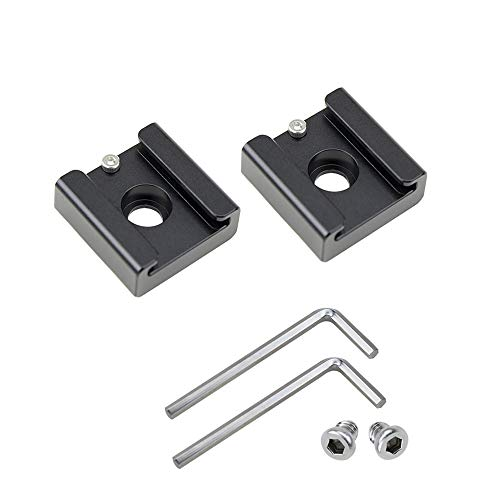 - 2Pack Cold Shoe Mount Adapter Hot Shoe Bracket Shoe with 1/4