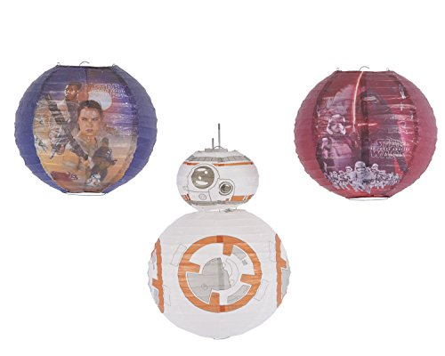 American Greetings Star Wars Episode VII Paper Lantern Decoration (4 Count) -