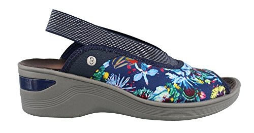 outlet best prices clearance marketable BZees Women's Del'Rey Sandal Navy Multi free shipping new arrival dEQ9pCBkI1