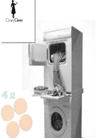 Kit construcción columna de lavadora-secadora con Cartel de trabajo