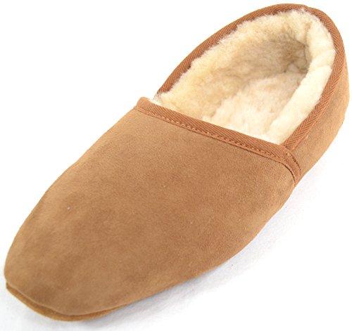 Zapatillas De Zapatilla De Zapatilla 100% Auténticas De Lujo De Snugrugs Para Hombre Con Suela Blanda