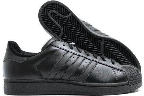 adidas Originals Superstar 2 Sneaker (Little Kid/Big Kid),Running Black/Black/Black,4 M US Big Kid