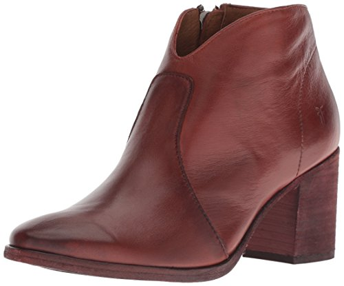FRYE Women's Nora Zip Short Ankle Boot, red Clay, 6.5 M US