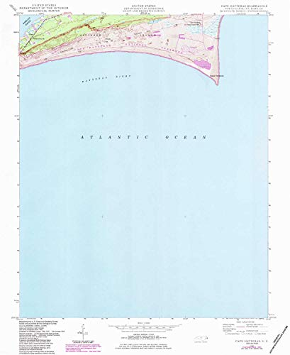 (YellowMaps Cape Hatteras NC topo map, 1:24000 Scale, 7.5 X 7.5 Minute, Historical, 1948, Updated 1983, 26.7 x 21.8 in - Tyvek)
