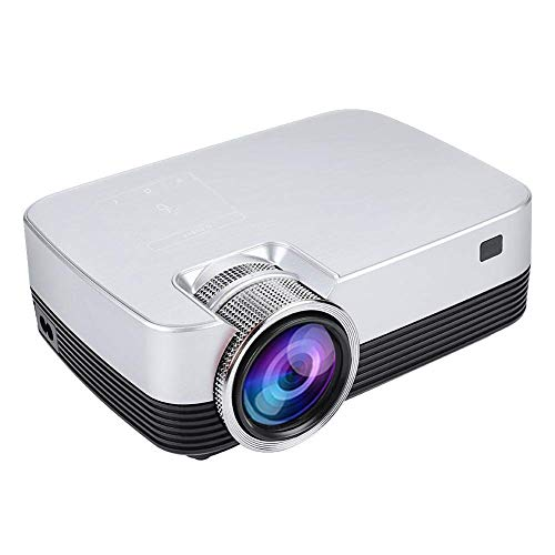 Projector Tragbarer Projektor, 1080P HD LED Mini Home Theater Movie Multimedia Video Android7.1, Support Bluetooth/WiFi…