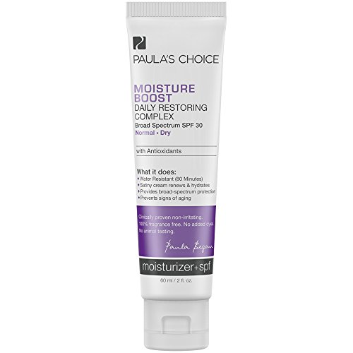 Paula's Choice Moisture Boost Daily Restoring Complex SPF 30 Moisturizer with Antioxidants, 2 oz. (1 Bottle) for Normal to Dry Skin