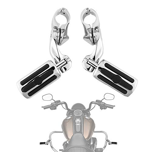 (Highway Pegs Foot Rest for Street Glide Electra Glide Road King Road Glide Softail with 1.25
