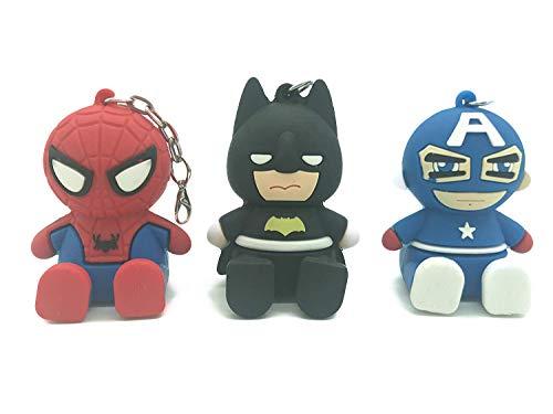- Boqiao 3 PCS Cartoon Spiderman Batman Keychain, Pendant for Phone & Phone Mount (gourpB)