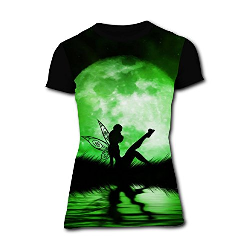 Green Faery Elf T-shirts for Women Short Sleeve Tee Shirt Round L