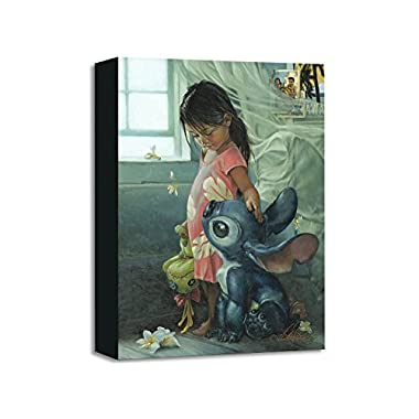 Ohana Means Family - Treasures on Canvas - Disney Fine Art Lilo and Stitch Gallery Wrapped Canvas Wall Art by Heather Theurer