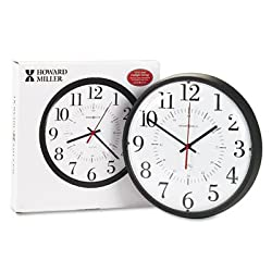 howard-miller Alton Auto Daylight Savings Wall Clock, 14quot, Black