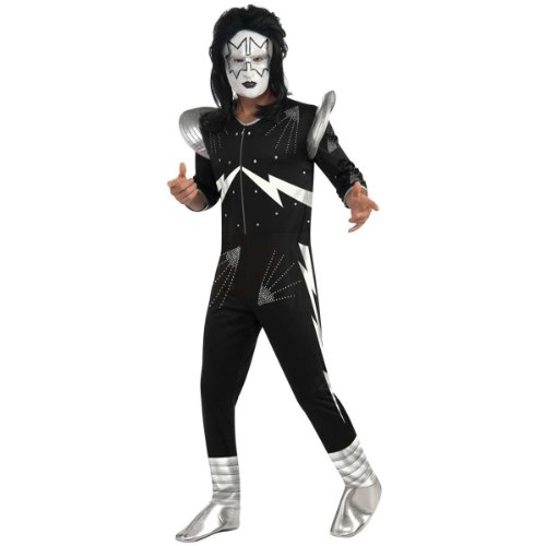 Spaceman Costume (Kiss The Spaceman Costume, Black, Large)