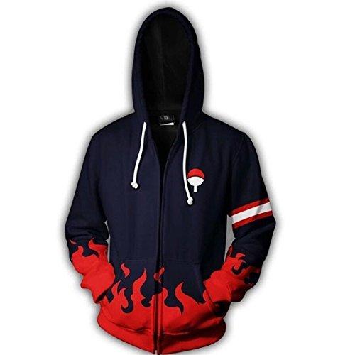 - NSOKing Hot Anime 4th 7th Hokage Uzumaki Naruto Uchiha Cosplay Jacket Coat (Large, Black&Red)
