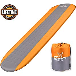 TRIPHUNTER GEARS Quiet Self Inflating Sleeping Pad for Camping Backpacking Traveling and Hiking – Comfortable Sleeping…