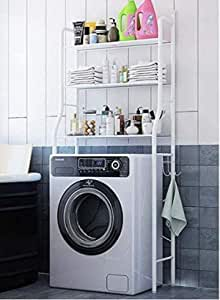 Storage Shelf Metal Towel Rack Shower Toilet Kitchen Storage Rack Washing Machine Storage Rack-68x25x152cm (3 layer)