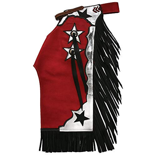 Saddle Barn Tack Junior Red and Silver Rodeo Chaps