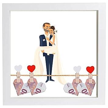 Hochzeitsgeschenk Geldgeschenk Bilderrahmen Mit Motiv Hochzeit
