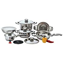 Chef KT12 Chef 12Pc 9Ply Ss Cookware withTrivet