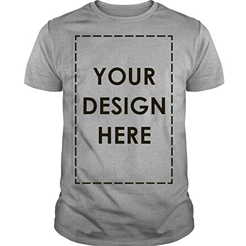 285776d3 Custom T Shirt Add Your Own Custom Text Name Personalized Message or Image T -Shirt Unisex (XL, Sport Grey)