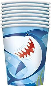 9oz Ocean Shark Party Cups, 8ct