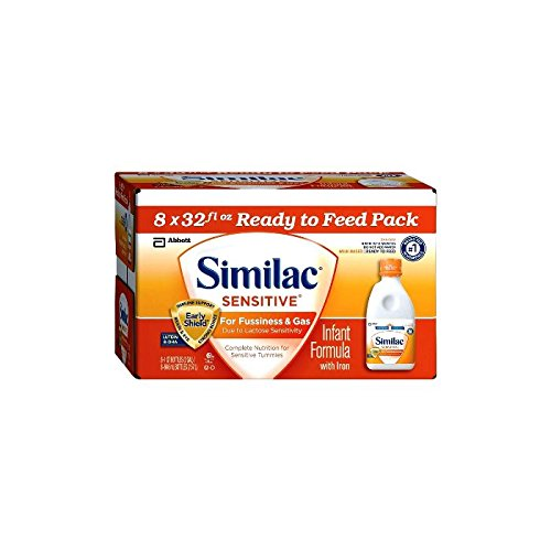 Abbott Similac Sensitive for Fussiness and Gas, Ready to Feed, 8 Count