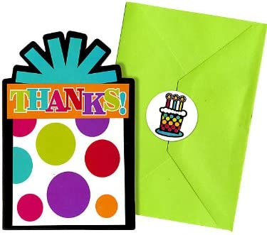 """Party On Polka Dot Happy Birthday Postcard Thank You Cards , Pack of 20, Multi , 4 1/4"""" x 6 1/4"""" Paper"""
