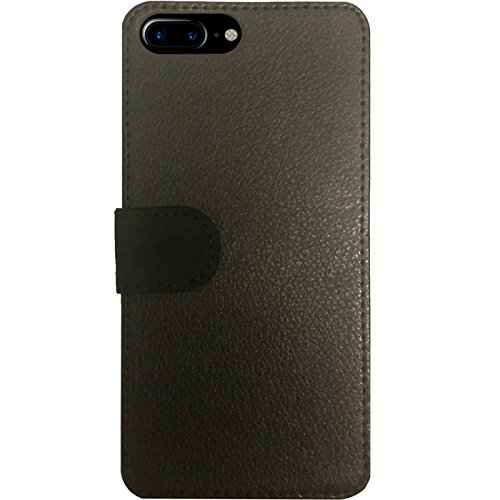 Leder Flip Case Tasche Hülle für Apple Iphone 7 Plus / 8 Plus - Braunbär Mit by ilovecotton