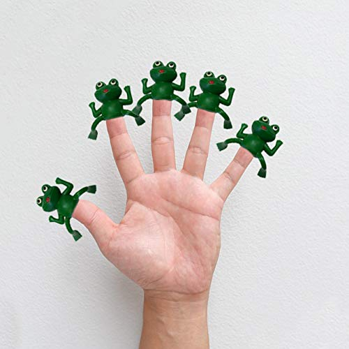 (The Dreidel Company Vinyl Frog Finger Puppets Passover Toys - Set of 24 )
