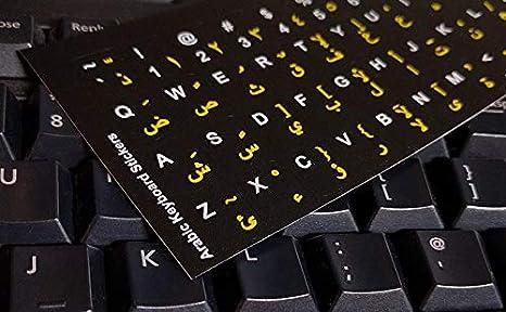 Pegatinas teclado árabe para PC, ordenador portátil, teclados de ordenador (fondo transparente, letras rojas en claros Etiquetas): Amazon.es: Electrónica