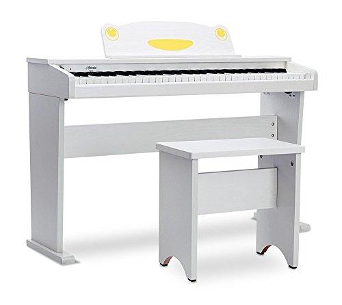 Artesia FUN-1 61-Key Childrens Digital Piano with Bench and Headphones - White