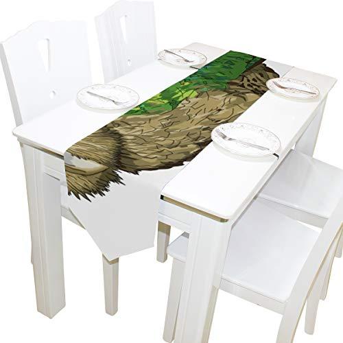 HHatt Kakapo New Zealand Bird Table Runners, Elegant Decor for Wedding Party Birthday Home Daily Use, 13