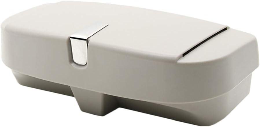 longyitrade Caja de Almacenamiento Universal de los vidrios del Coche,Caja Durable del Clip del Tenedor de los vidrios del Soporte de la Visera del veh/ículo Beige