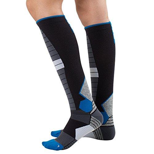 Ladies Snowboarding (Thermal Compression Ski Socks - Warm Socks for Skiing and Snowboarding (S,)