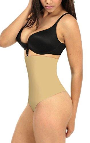 7a4bf361261add ShaperQueen 102 Thong - Women Waist Cincher Girdle Tummy Slimmer Sexy Thong  Panty Shapewear (M