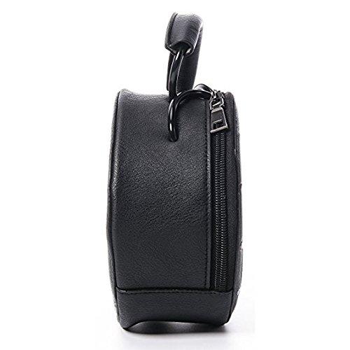 Women Clock Messenger Single Shoulder Leather Pu Donalworld Grey Bag 6dBqnEx6