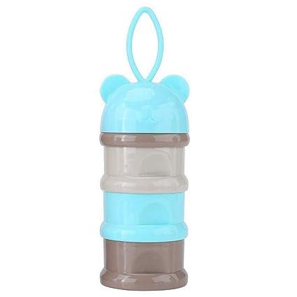 Bebé Envase de leche de alimentación Dispensador de Fórmula Infantil Snacks de Tres Parrillas Cajas de