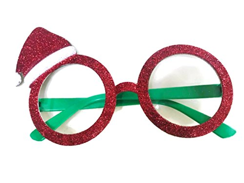 Christmas Fancy Dress Funny Glasses Santa Claus Hat Reindeer Sunglasses Christmas Costume Ornaments Party Decoration Glasses (Santa - Boots Spectacles