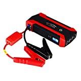 Car Jump Starter, 600A Peak 89800mAh (Up to 6L Gas or 4L Diesel Engine) Auto Battery Booster and Power Bank Phone Charger with 4 USB Ports, LCD Screen, LED Lights, etc (Red) (Red) (Red)
