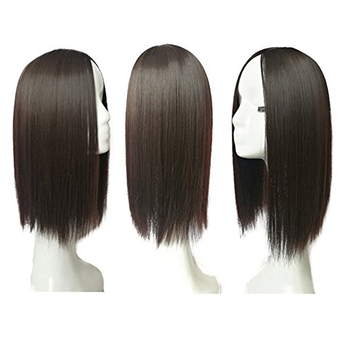 14 Middle Part Hair Crown Topper Clip Toupee for Women with Thinning Hair (Dark Brown)