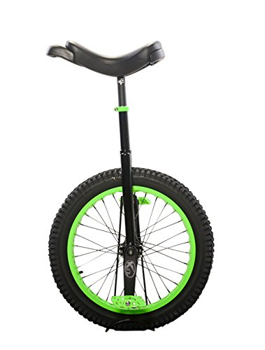 Koxx Fluo 20 Trials Unicycle, Black with Neon Green Rims and (Trials Rim)