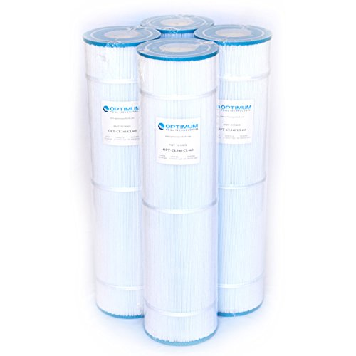 Pool Filter 4-Pack, Replaces Jandy CL460 R0554600, Unicel C-7468, Filbur FC-0810, & Pleatco PJAN115 Filter Cartridges by Optimum Pool Technologies