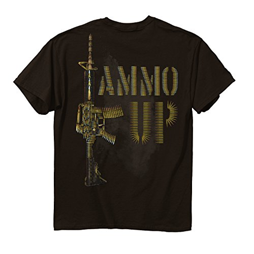 BuckWear Men's Ammo Up T-Shirt, Chocolate, X-Large