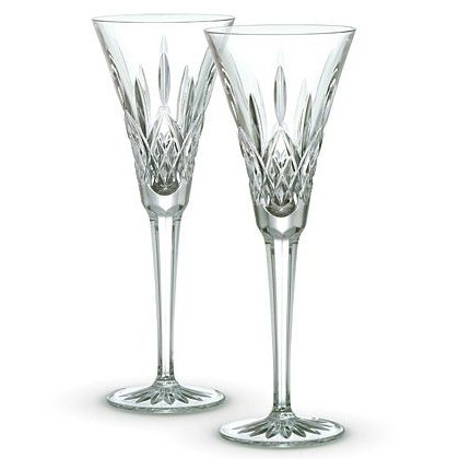 Waterford Lismore Toasting Flutes, Set of (Traditions Halloween Ireland)