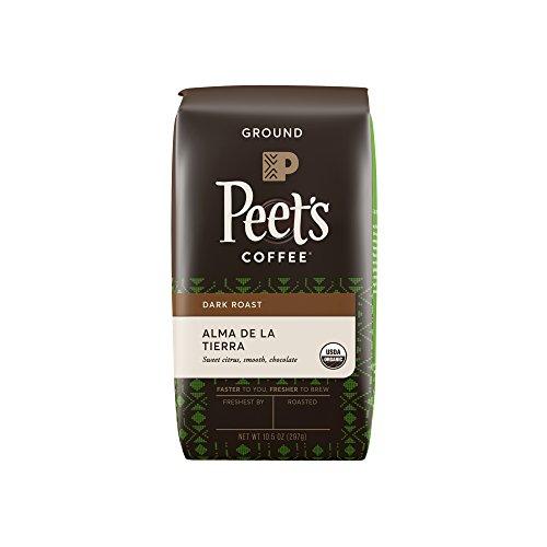 Peet's Coffee, People & Planet, Alma De La Tierra, Occult Roast, Organic Ground Coffee, 10.5 oz. Bag, USDA Organic Coffee, Lively & Bright Blend of Latin American Coffee, Medium Body & Cocoa Notes