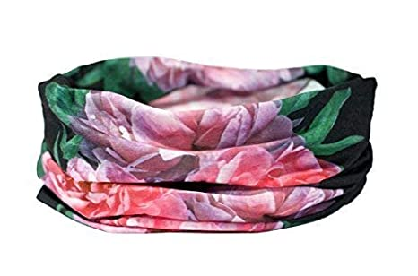 Rosa Peonías Diseño Floral Bufanda - Ruffnek Multifuncional ...