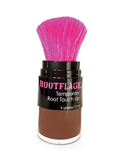 Rootflage Root Touch Up Hair Powder - Temporary Hair Color, Root Concealer, Thinning Hair Powder and Concealer and Applicator with Detail Brush Included- Choose from 25 Colors (07 Medium Brown)