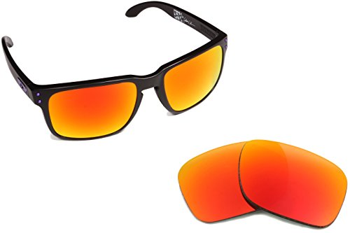 Best SEEK OPTICS Replacement Lenses Oakley HOLBROOK - Polarized Fire Red - Holbrook Lens Oakley Fire Iridium